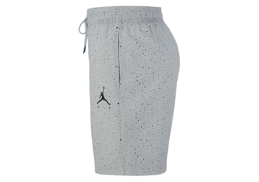 cheaper d3a0a ea6bb NIKE AIR JORDAN JUMPMAN CEMENT POOLSIDE SHORTS LIGHT SMOKE GREY
