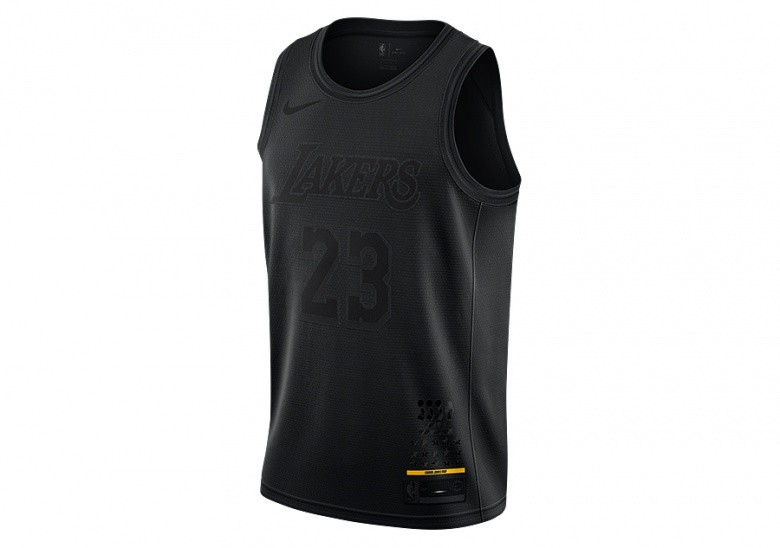 NIKE NBA MVP LOS ANGELES LAKERS LEBRON JAMES JERSEY BLACK