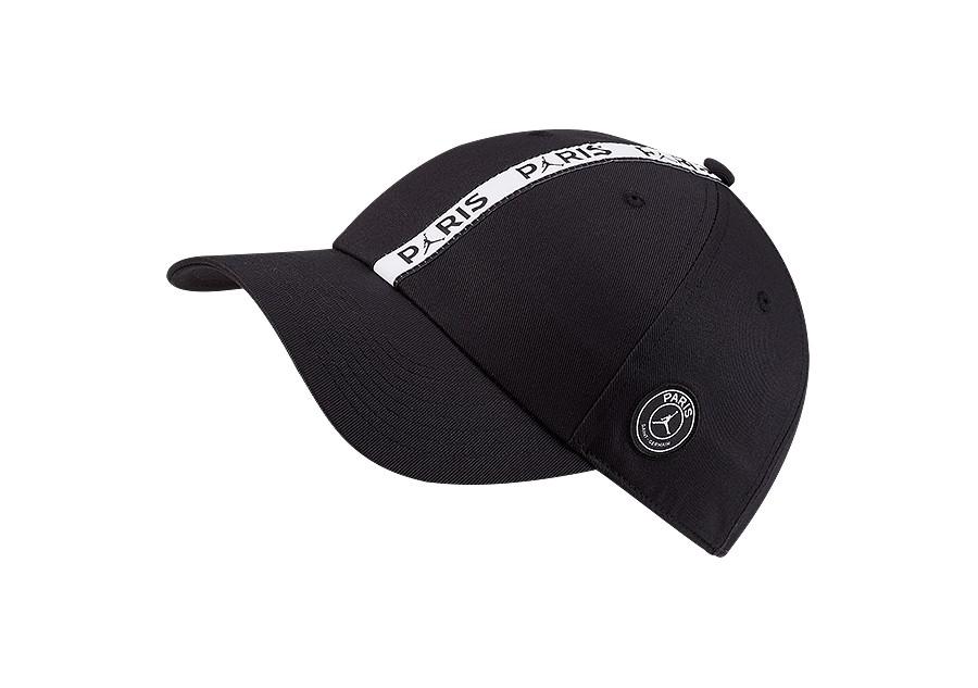 NIKE AIR JORDAN PSG PARIS SAINT GERMAIN H86 CAP BLACK
