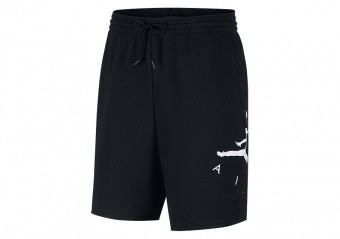 NIKE AIR JORDAN JUMPMAN AIR GFX FLEECE SHORTS BLACK
