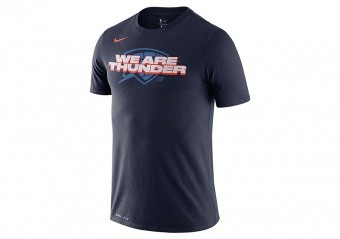 NIKE NBA OKLAHOMA CITY THUNDER MANTRA DRY TEE COLLEGE NAVY