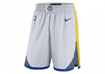 NIKE NBA GOLDEN STATE WARRIORS SWINGMAN HOME SHORTS WHITE