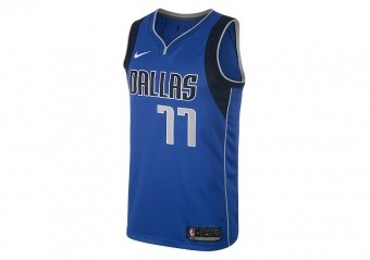 NIKE NBA DALLAS MAVERICKS LUKA DONČIĆ SWINGMAN ROAD JERSEY GAME ROYAL