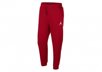 NIKE AIR JORDAN SPORTSWEAR JUMPMAN FLEECE PANTS GYM RED