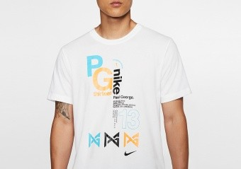 NIKE DRI-FIT PG BASKETBALL TEE WHITE