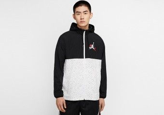 NIKE AIR JORDAN JUMPMAN CLASSICS WINDWEAR JACKET BLACK