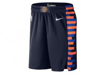 NIKE NBA NEW YORK KNICKS CITY EDITION SWINGMAN SHORTS COLLEGE NAVY