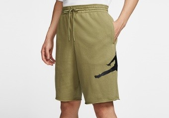 NIKE AIR JORDAN JUMPMAN LOGO FLEECE SHORTS THERMAL GREEN