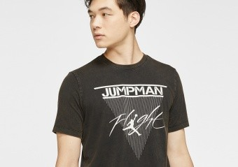 NIKE AIR JORDAN JUMPMAN FLIGHT TEE BLACK