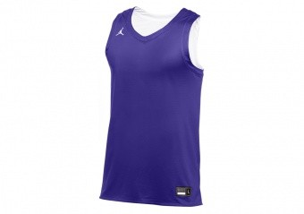 NIKE AIR JORDAN PRACTICE BASKETBALL JERSEY PURPLE