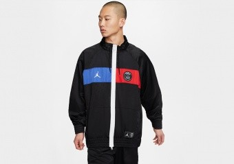 NIKE AIR JORDAN PARIS SAINT-GERMAIN JACKET BLACK