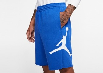 NIKE AIR JORDAN JUMPMAN LOGO FLEECE SHORTS GAME ROYAL