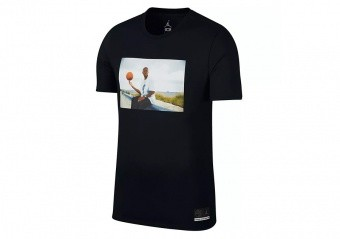 NIKE AIR JORDAN SPORTSWEAR 'HE GOT GAME' JESUS TEE BLACK