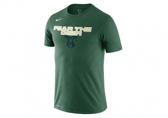 NIKE NBA MILWAUKEE BUCKS MANTRA DRI-FIT TEE FIR
