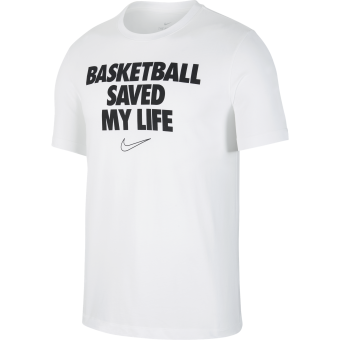 NIKE 'BASKETBALL SAVED MY LIFE' DRI-FIT TEE