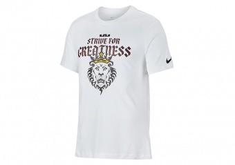 NIKE LEBRON 'STRIVE FOR GREATNESS' LION TEE WHITE