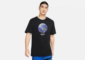 NIKE 'WORLD BALL' PHOTO DRI-FIT TEE BLACK