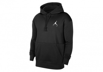 NIKE AIR JORDAN JUMPMAN AIR FLEECE PULLOVER HOODIE BLACK