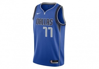 NIKE NBA DALLAS MAVERICKS LUKA DONČIĆ ICON EDITION SWINGMAN JERSEY GAME ROYAL