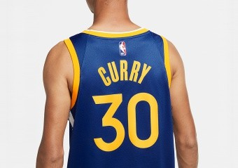 NIKE NBA GOLDEN STATE WARRIORS STEPHEN CURRY ICON EDITION SWINGMAN JERSEY RUSH BLUE