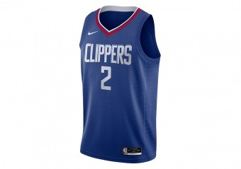 NIKE NBA LOS ANGELES CLIPPERS KAWHI LEONARD ICON EDITION SWINGMAN JERSEY RUSH BLUE