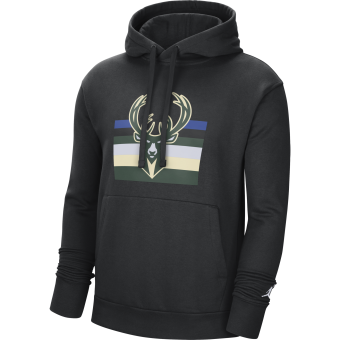 NIKE NBA MILWAUKEE BUCKS STATEMENT EDITION FLEECE PULLOVER HOODIE