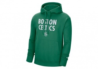 NIKE NBA BOSTON CELTICS CITY EDITION LOGO PULLOVER FLEECE HOODIE CLOVER