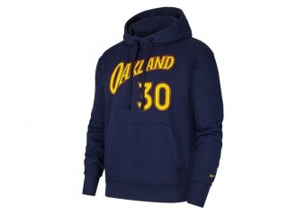 NIKE NBA GOLDEN STATE WARRIORS STEPHEN CURRY CITY EDITION ESSENTIAL PULLOVER HOODIE COLLEGE NAVY