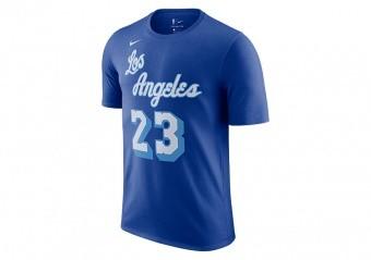 NIKE NBA LOS ANGELES LAKERS LEBRON JAMES CLASSIC EDITION TEE RUSH BLUE