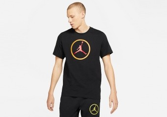 NIKE AIR JORDAN SPORT DNA HBR CREW TEE BLACK
