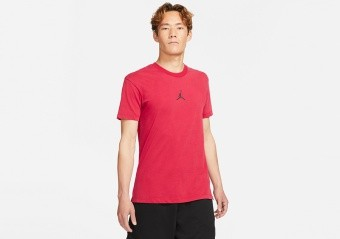 NIKE AIR JORDAN DRI-FIT SHORT-SLEEVE GRAPHIC TOP TEE GYM RED