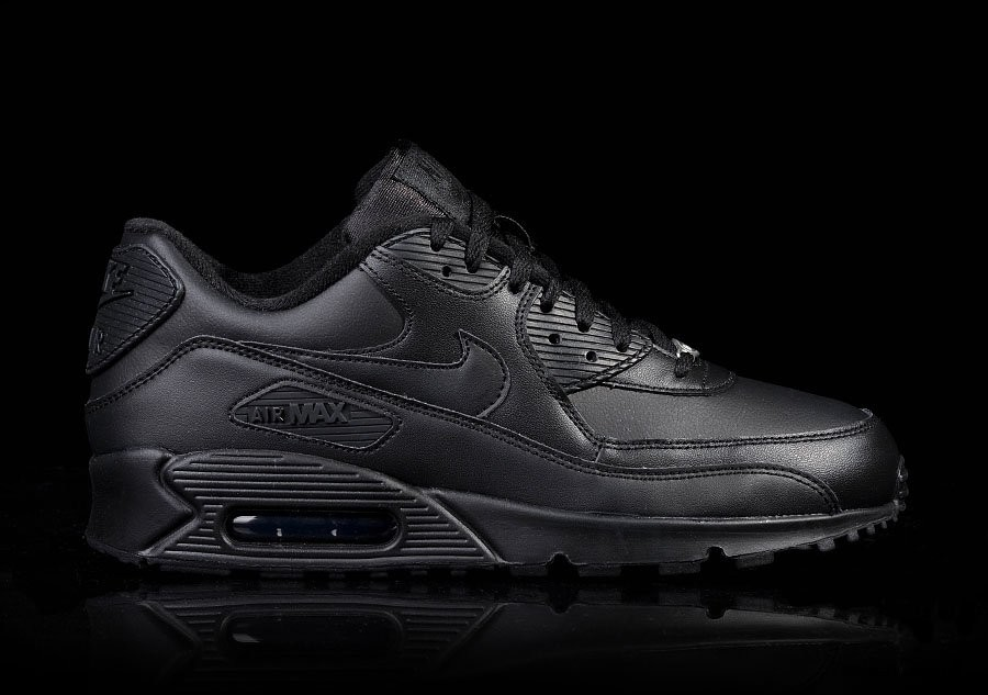 9e425dab7134 NIKE AIR MAX 90 LEATHER INTENSE BLACK price €112.50