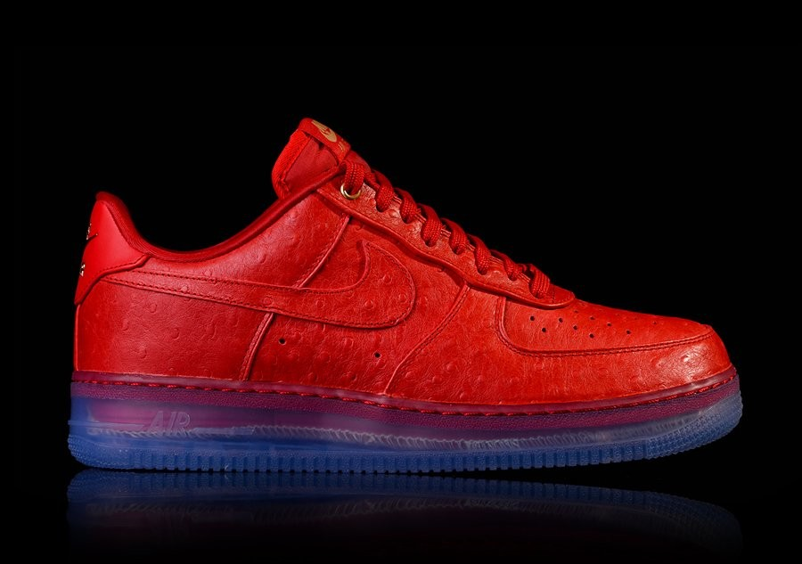 super popular 9fe85 796c7 NIKE AIR FORCE 1 COMFORT LUX LOW RED OSTRICH